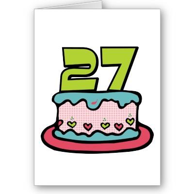 27 Years Birthday Cake
